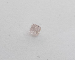 0.07ct Fancy Light Pink  Diamond , 100% Natural Untreated