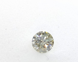 0.42ct  Light Green Diamond , 100% Natural Untreated