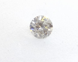 0.49ct Fancy Light White Gray  Diamond , 100% Natural Untreated