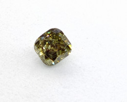 0.33ct Fancy Deep bluish Green  Diamond , 100% Natural Untreated