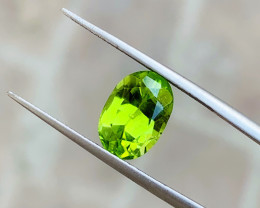 2.80 Ct Natural Green Yellow Semi Transparent Peridot Gemstone