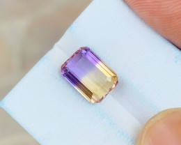 3.75 Ct Natural Bi Color Flawless Ametrine Gemstone
