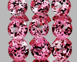 3.00 mm Round 9 pcs Reddish Pink Tourmaline [VVS]