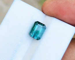 2.15 Ct Natural Blueish Green  Transparent Tourmaline Gemstone