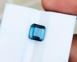 1.80 Ct Natural Blueish Indicolite Transparent Tourmaline Ring Size Gemston