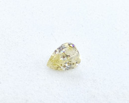 0.16ct  Light Yellow Diamond , 100% Natural Untreated
