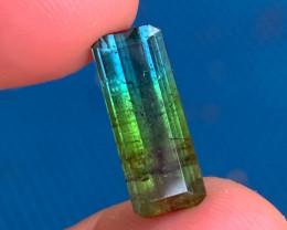 *NR* 6.08 ct Rainbow Tourmaline - Blue / Green / Red