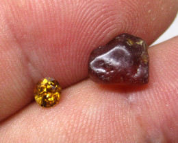 4.07tcw Natural Australian Zircon Sample Set Before  and After.