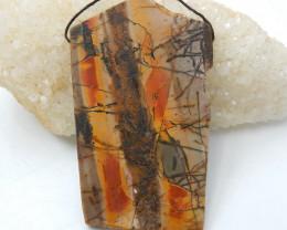 Gorgeous Pendant,Multi-Color Picasso Jasper Gemstone Pendant,Large Pendant,