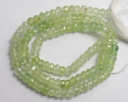 EXTREMELY STRIKING AA 4.50-5.50MM PREHNITE FACETED ROUNDELS-