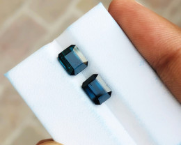3.30 Ct Natural Dark Blue Transparent Tourmaline Gems Pairs