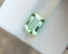 2.05 Ct Natural Green SeaFoam Color Transparent Tourmaline Gemstone