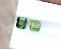 3.20  Ct Natural Green Transparent Tourmaline Gems Pairs