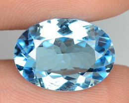 5.51 CTS FANCY SWISS BLUE COLOR TOPAZ NATURAL GEMSTONE