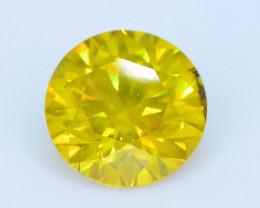 AIG Certified 1.13 ct I1 Clarity Golden Diamond SKU-13