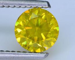 AIG Certified 1.08 ct I2 Clarity Golden Diamond SKU-13