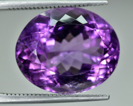 12.38 Crt Natural Amethyst Faceted Gemstone.( AG 62)