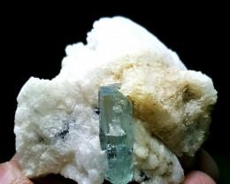 Amazing Natural color gemmy Aquamarine specimen 206.1Cts-Pak