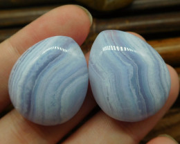 Pairs blue lace agate cabochon (G0677)