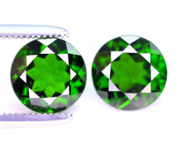 Rare 2.60 Ct Top Quality Natural Chrome Diopside Pair