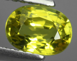 1.10 CTS ~100% Natural Lemon Yellow Chrysoberyl Excellent Oval Cut~