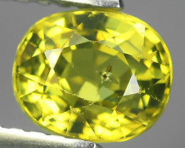 1.20~CTS MASTER OVAL CUT NATURAL YELLOWISH GREEN CHRYSOBERYL~ Excellent