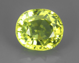 1.20 CTS MASTER OVAL CUT NATURAL YELLOWISH GREEN CHRYSOBERYL~ Excellent ~