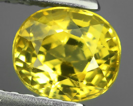 1.40 CTS~100% Natural Lemon Yellow Chrysoberyl Excellent Oval Cut~