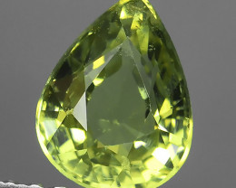 1.10 CTS ~100% Natural Lemon Yellow Chrysoberyl Excellent pear Cut~