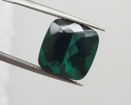 6.53 ct Indicolite Faceted  Long Cushion Blue Tourmaline(SKU 90)