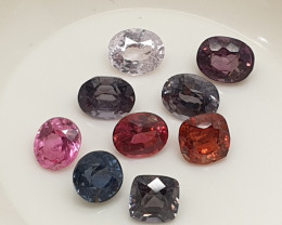 Burma Spinel Lot 4 ct Red  Blue Pink Greyish- Blue(SKU 67)