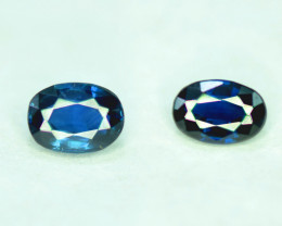 1.45 CT Royal Blue Color Parti Sapphire Gemstone Pair