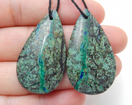 African Turquoise Earrings ,Handmade Gemstone ,Turquoise Earrings ,Lucky St