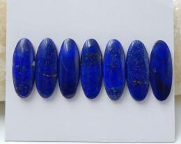 7Pcs lapis lazuli cabochon tiny bead for ring oval cut lapis lazuli cabocho
