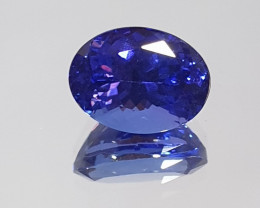 1.83 ct Deep Blue Clean Tanzanite Oval 8.5x6.4mm (SKU98)