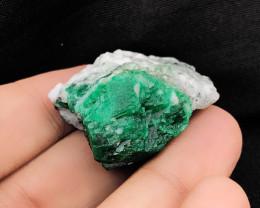 97  Ct Natural Greenish Perfect look Emerald Specimen