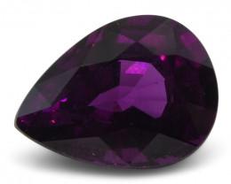 2.61 ct Rhodolite Garnet Pear Fine Purple (Rhodolite/Umbalite)