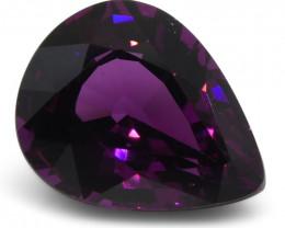 1.97 ct Rhodolite Garnet Pear Fine Purple (Rhodolite/Umbalite)