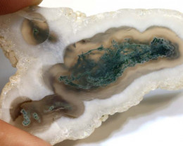 60.5  CTS MOSS AGATE DRILLED PENDANT   NP-92