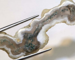 28.5  CTS MOSS AGATE DRILLED PENDANT  NP-99
