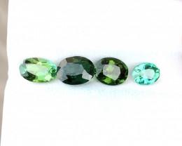 4.25 Ct Natural Greenish Transparent Tourmaline Gems Parcels