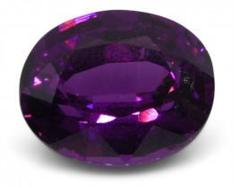 2.71 ct Rhodolite Garnet Oval Fine Purple (Rhodolite/Umbalite)