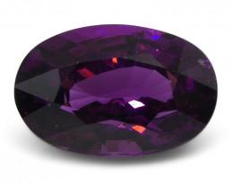 2.58 ct Rhodolite Garnet Oval Fine Purple (Rhodolite/Umbalite)
