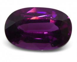 2.59 ct Rhodolite Garnet Oval Fine Purple (Rhodolite/Umbalite)