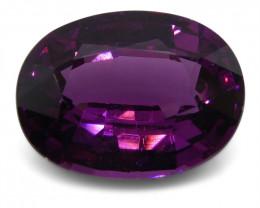 1.77 ct Rhodolite Garnet Oval Fine Purple (Rhodolite/Umbalite)