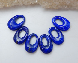 New 6PCS Lapis Lazuli Cabochons ,Gemstone Beads For Jewelry D112