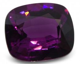 2.13 ct Rhodolite Garnet Cushion Fine Purple (Rhodolite/Umbalite)-$1 Auctio