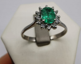 0,40ct Colombian Emerald 18k Solid Gold Ring Colombian Emerald Colombian Em