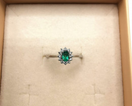 0,20ct Colombian Emerald 18k Solid Gold Ring Colombian Emerald Colombian Em