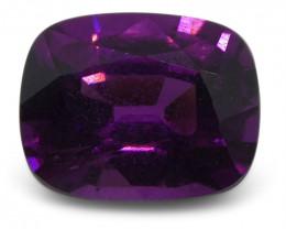 1.68 ct Rhodolite Garnet Cushion Fine Purple (Rhodolite/Umbalite)